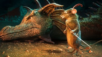 Reepicheep the Mouse and Eustace as a Dragon