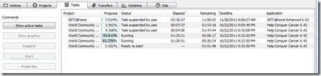 BOINC tasks