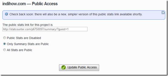 statcounter public access