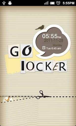GO Locker Paper-cut Theme-Best Go Locker themes
