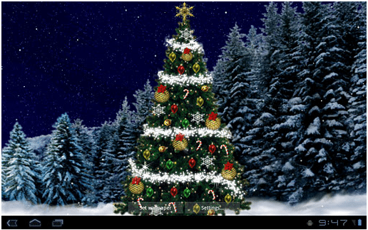 Christmas tree Live Wallpaper