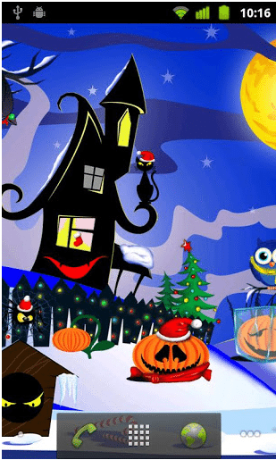 Scary Christmas Live Wallpaper