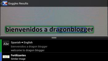 Google Goggles-Text Translation