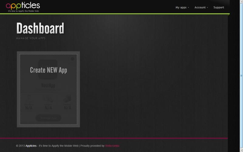 Appticles Dashboard
