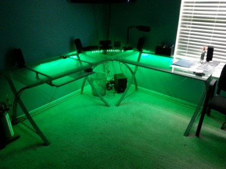 Green LED Desk