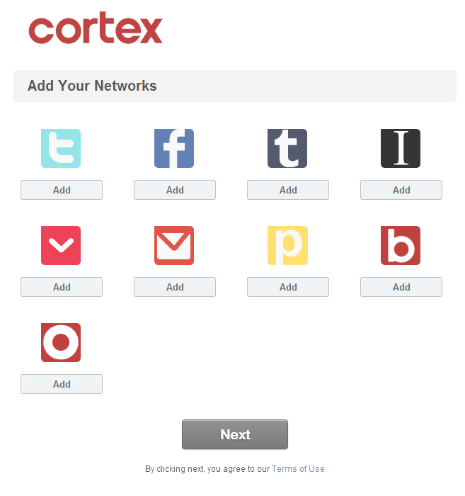 cortex intro screen