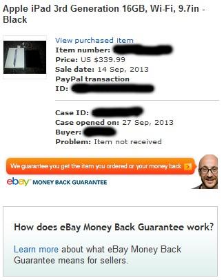 eBay Case Details