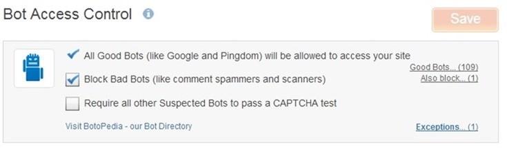 incapsula bot access