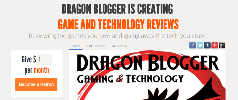 Dragonblogger Patreon Giveaway