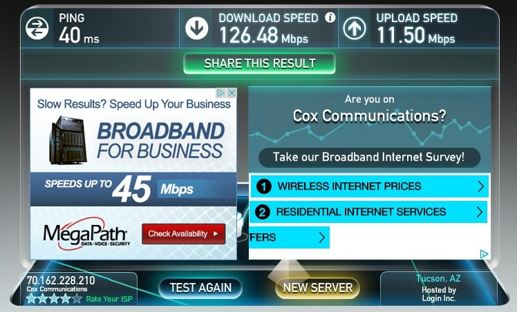 nighthawk-ethernet-speed