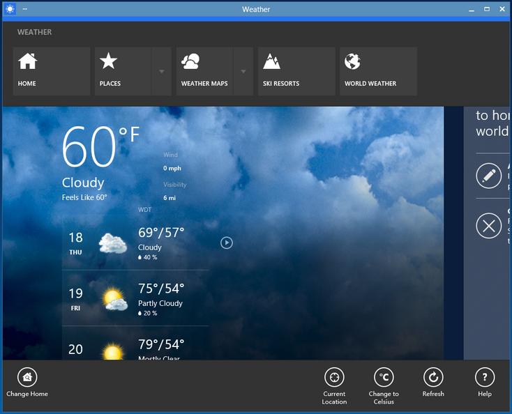 modern app windowed