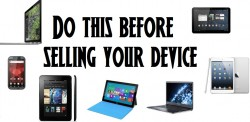 Do this before selling your device