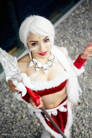 League of Legend's Snow Bunny Nidalee Cosplay Lily Stella Cosplay Photographer William Tan Photography Anirevo Winter 2015