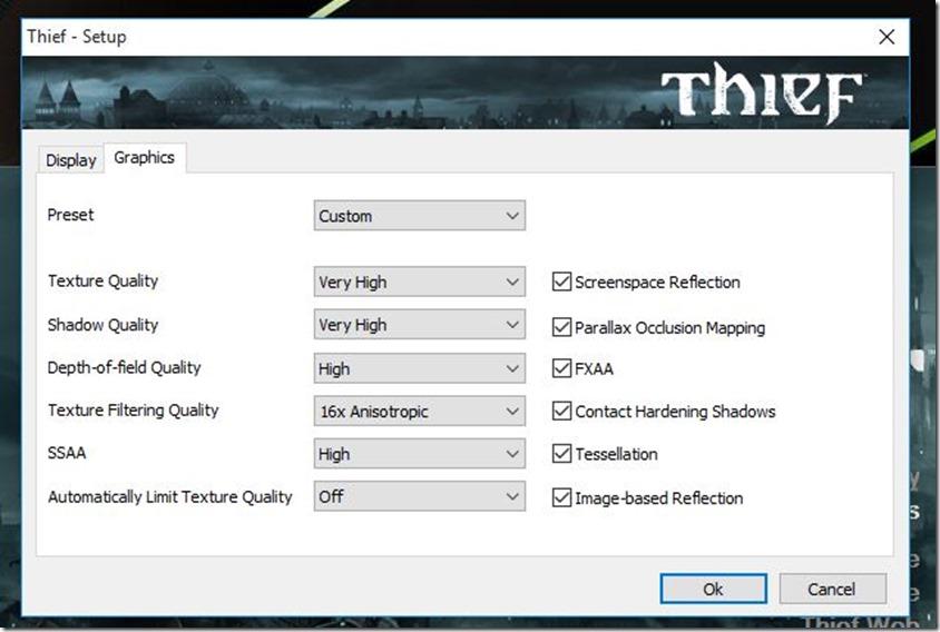 Thief settings