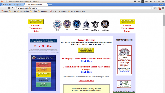 terror-alert.com homeland security advisory system