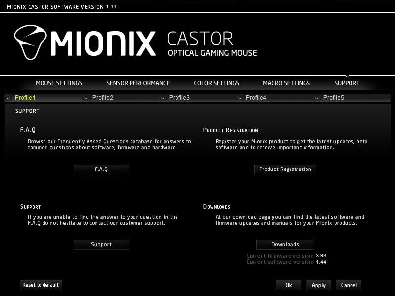 mionix castor support