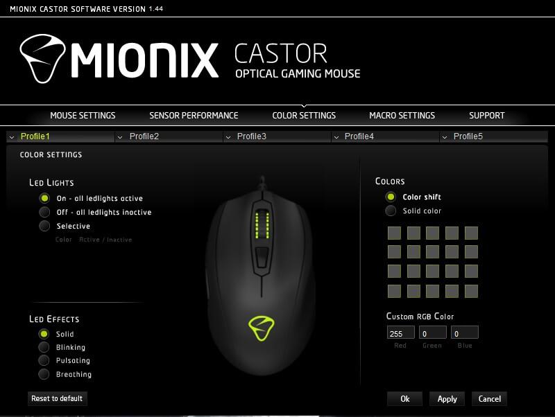 mionix castor LED