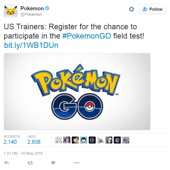 Pokemon GO US beta test