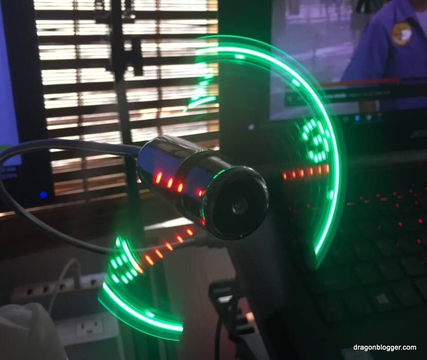 LED Clock Fan USB (7)
