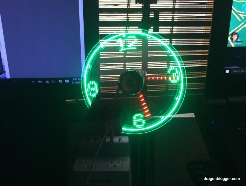 LED Clock Fan USB (2)
