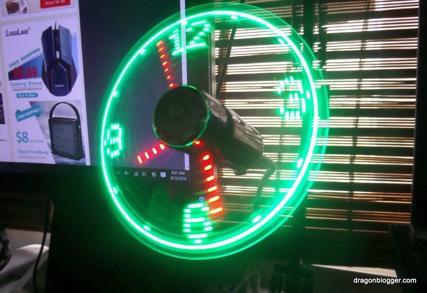 LED Clock Fan USB (1)