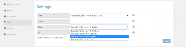 wordpress-google-analytics-filter-option