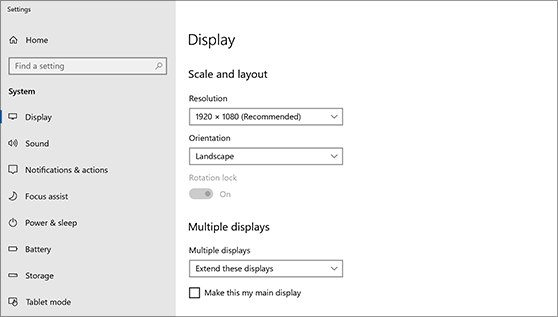 Set up dual monitors on Windows 10