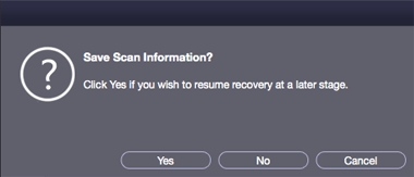 Recover Later - Stellar Mac Data Recovery
