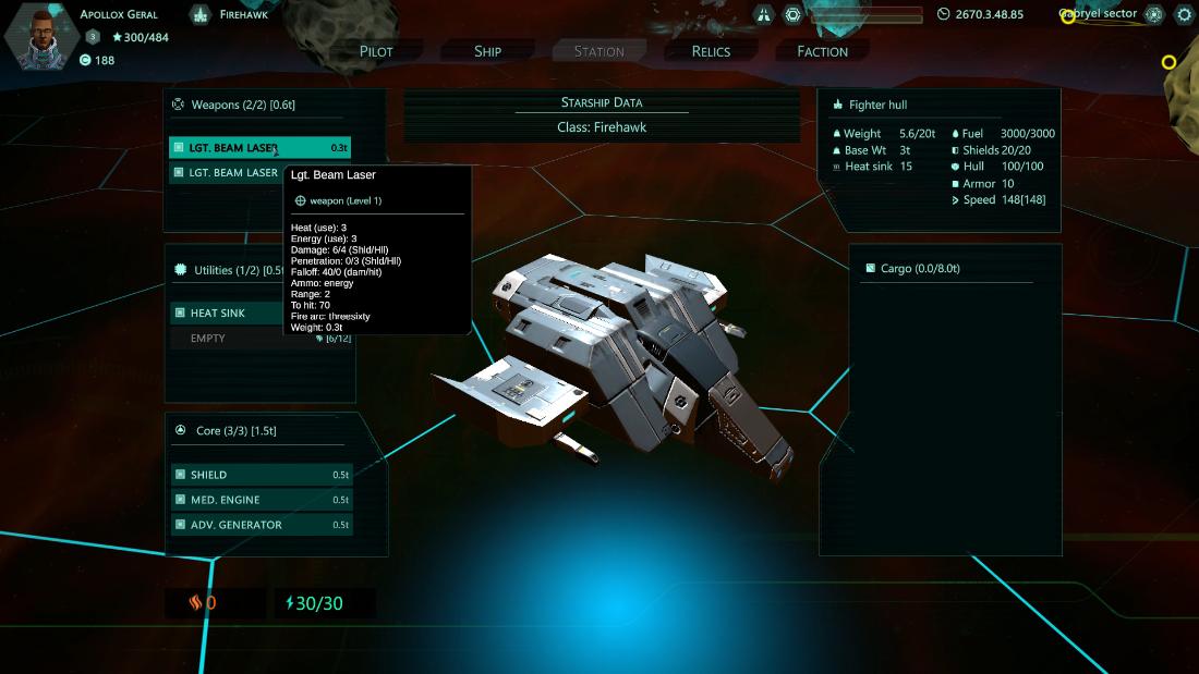 Relic Space - Ship Loadout