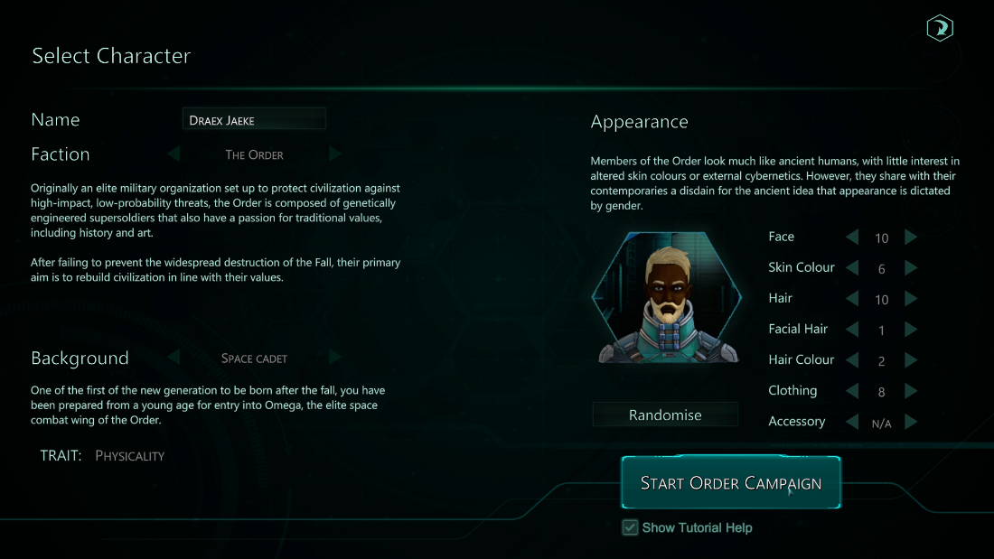 Relic Space - Character Creation
